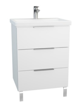 Vitra Ecora 600mm Floor Mounted 3 Drawer Unit With Basin