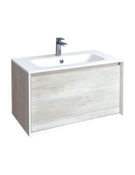 Phoenix Enzo 810mm Taiga Wall Mounted Vanity Unit With Mineral Cast Basin