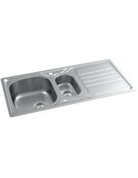 Mikro Stainless Steel 1.5 Bowl Kitchen Sink With Drainer