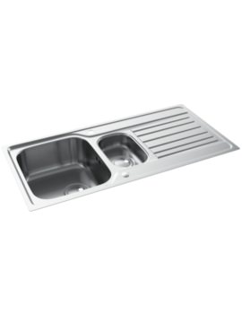 Connekt FlushFit Stainless Steel 1.5 Bowl Kitchen Sink With Drainer