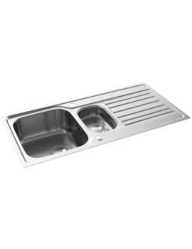 Connekt FlushFit Stainless Steel 1.5 Bowl Kitchen Sink With Drainer