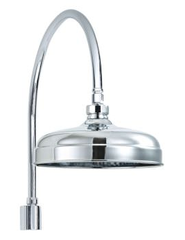 200mm Traditional Shower Head And Swan Neck Shower Arm