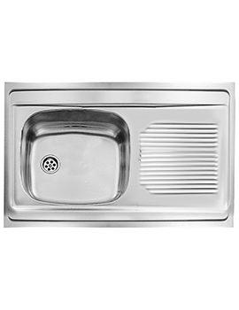 Abode matrix r0 half bowl kitchen sink aw5007 - Kitchen sink saying ...