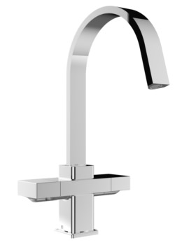 Chocolate Easyfit Kitchen Sink Mixer Tap Brushed Nickel