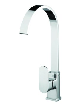 Cherry Easyfit Kitchen Sink Mixer Tap Brushed Nickel