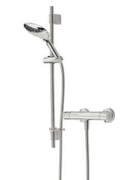 Claret Thermostatic Exposed Bar Valve With Adjustable Riser Kit