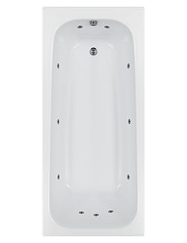 Biarritz 11 Jets Whirlpool Bath 1800 x 800mm