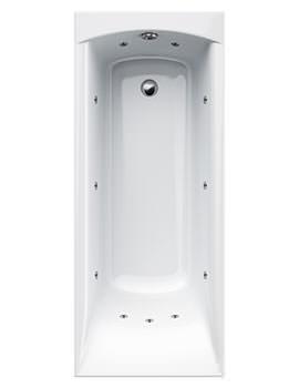 Delta 11 Jet Whirlpool Bath 1675 x 700mm