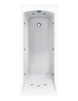 Carron Sigma Single Ended 11 Jet Whirlpool Bath 1900 x 900mm