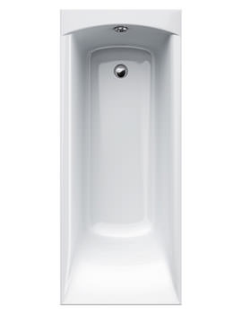 Delta 5mm Acrylic Single Ended Rectangular Bath 1650 x 700mm