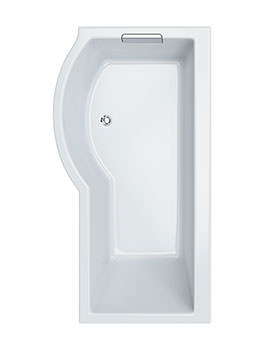 Celsius Carronite Showerbath 1700 x 750mm - Left Handed