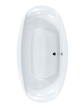 Celsius Oval Carronite Bath 1900 x 1000mm