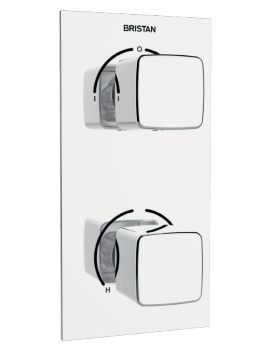 Cobalt Thermostatic Recessed Dual Control Shower Valve