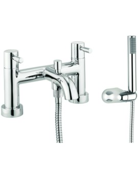 Heaven Dual Lever Deck Mounted Bath Shower Mixer Tap With Kit