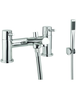 S4 Dual Lever Deck Mounted Bath Shower Mixer Tap With Kit