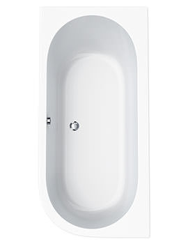 Status Right Hand Corner Bath 1600 x 725mm