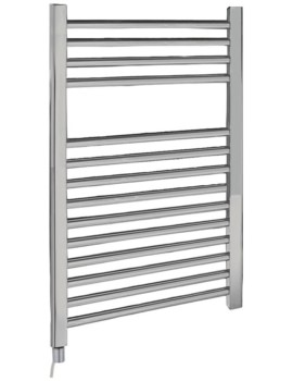 Electric Only 500 x 700mm Heated Ladder Chrome Towel Rail