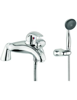 Alpha Single Lever Deck Mounted Bath Shower Mixer Tap With Kit