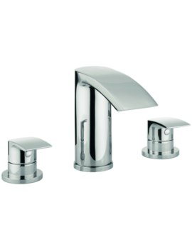 Crosswater Cone 3 Hole Deck Mounted Bath Filler Tap Set