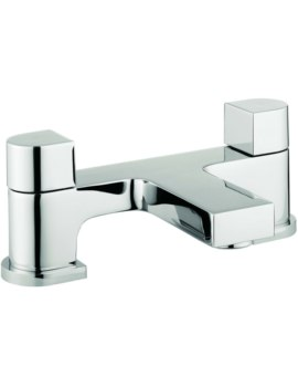 Block Dual Lever Deck Mounted Bath Filler Tap