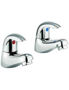 Alpha Pair Of Basin Pillar Taps