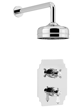 Glastonbury Recessed Thermostatic Valve With Fixed Head Kit Chrome