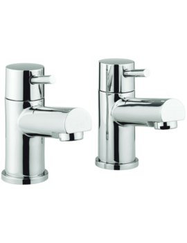 S4 Pair Of Bath Pillar Taps