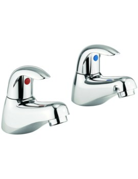 Alpha Pair Of Bath Pillar Taps