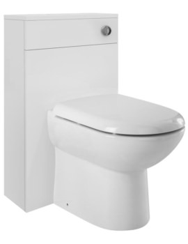 Design 500mm Gloss White Back-To-Wall WC Furniture Unit
