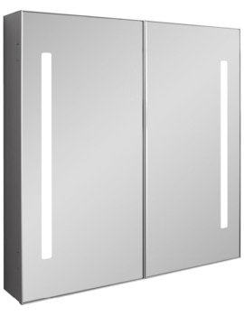 Bauhaus Allure Double Door Mirror Cabinet 700mm