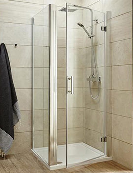 Lauren Pacific 900 x 1850mm Hinged Shower Door