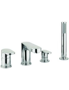 Lauren Silk 4 Hole Deck Mounted Bath Shower Mixer Tap With Kit