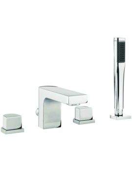 Lauren Block 4 Hole Deck Mounted Bath Shower Mixer Tap With Kit