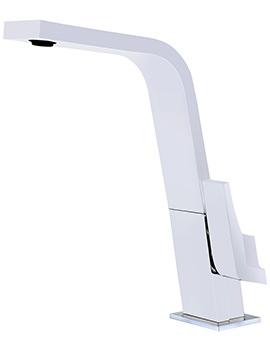 IC 915 Single Lever White Kitchen Sink Mixer Tap