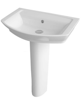 Lauren Clara 550mm 1 Tap Hole Basin And Full Pedestal