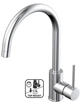 Teka TTM 105C Top Mount Single Lever Kitchen Sink Mixer Tap