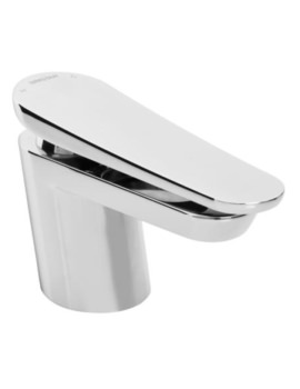 Claret Deck Mounted Single Hole Bath Filler Tap White-Chrome