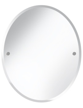 Oval 610 x 500mm Mirror Chrome