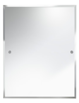 Rectangle 700 x 550mm Mirror Chrome