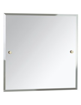 Square 600 x 600mm Mirror Gold