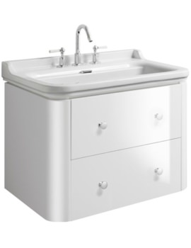 Waldorf 800mm White Gloss Basin Unit With 4 Knobs