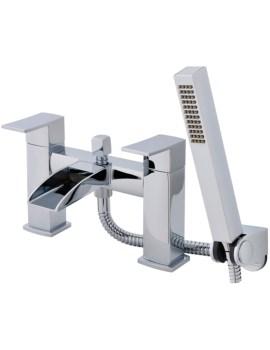 Lauren Moat Open Spout Bath Shower Mixer Tap With Kit