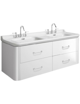Waldorf 1500mm White Gloss Basin Unit With 4 Bow Handles
