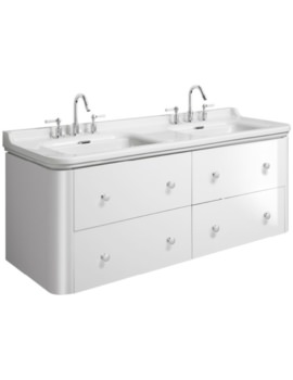 Waldorf 1500mm White Gloss Basin Unit With 8 Knobs