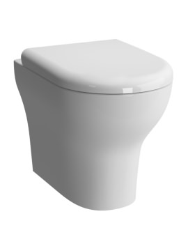 Zentrum Back-To-Wall WC Pan With Soft Close Toilet Seat