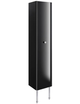 Waldorf 350mm Black Gloss Tower Unit With Legs And Knob