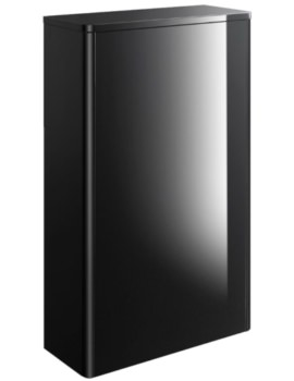Waldorf 559mm Black Gloss Back To Wall WC Unit