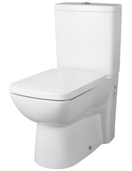 Ambrose Closed Coupled Flush To Wall WC Pan 640mm And Cistern