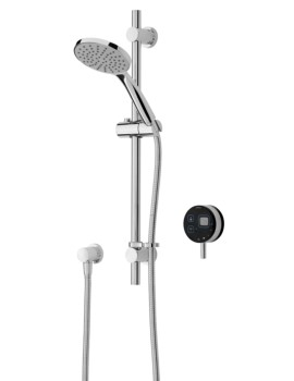 Artisan Digital Electric Mixer Shower With Adjustable Riser Black