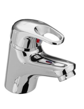 Cadet Deck Mounted Basin Mixer Tap With Clicker Waste